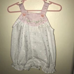 Vintage baby girl overall jumpsuit
